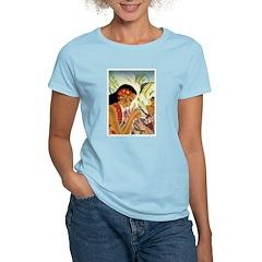 Frank Macintosh 'Angel Fish' Women's Pink T-Shirt