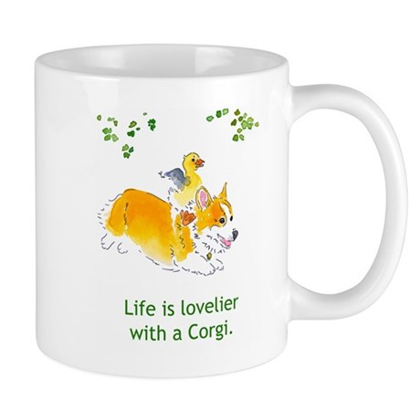 Lovelier with a Corgi Mugs