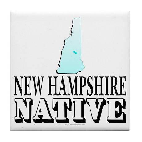 New Hampshire native Tile Coaster