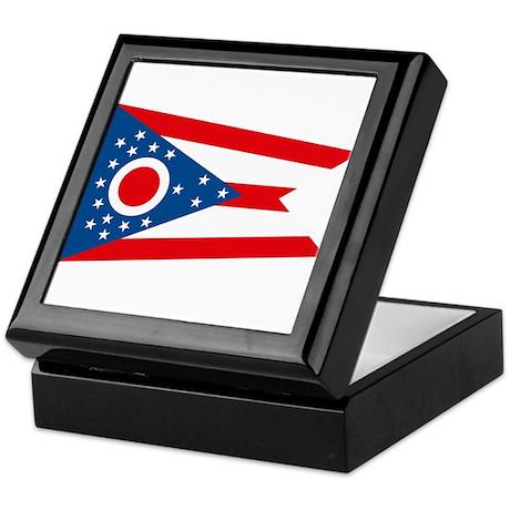 Ohio Flag Keepsake Box