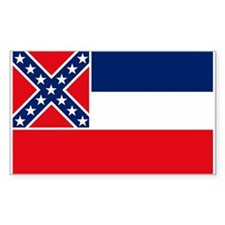 Mississippi Flag Rectangle Decal