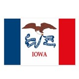 Iowa state flag Postcards