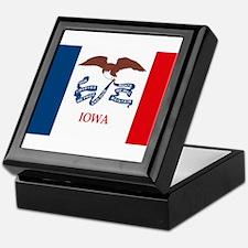 Iowa Flag Keepsake Box