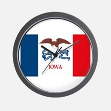 Iowa Flag Wall Clock