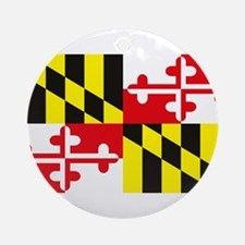 Maryland Flag Ornament (Round)