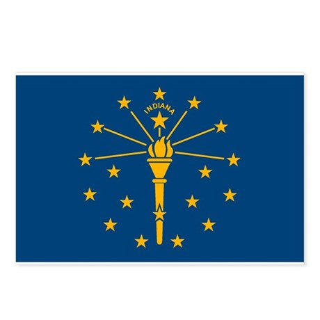 Indiana Flag Postcards (Package of 8)