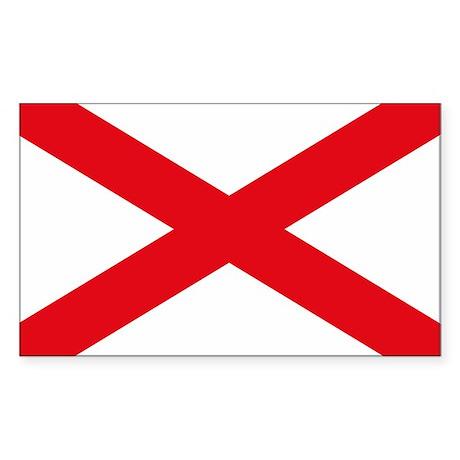 Alabama Flag Rectangle Sticker