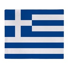 Greek Flag Throw Blanket