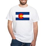 Colorado Mens White T-shirts
