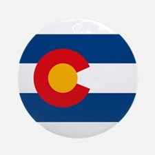 Colorado Flag Ornament (Round)