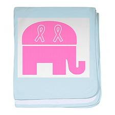 Pink Ribbon Republican Infant Blanket