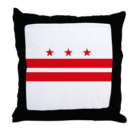 District of Columbia Flag Throw Pillow