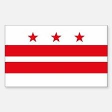 District of Columbia Flag Rectangle Decal