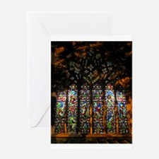 Stained Glass Window Christ ( Greeting Card