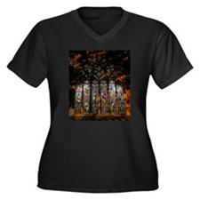 Stained Glass Window Christ ( Women's Plus Size V-