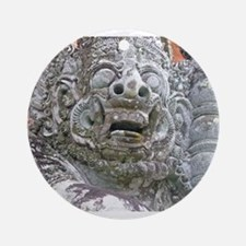 Balinese Temple Guardian Ornament (Round)