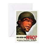 You Voted For WHO? Greeting Cards-10 Pk