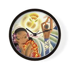 'Night-blooming Cereus' Wall Clock