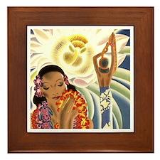 'Night-blooming Cereus' Framed Tile