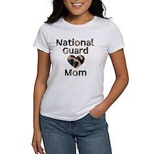 National Guard Mom Heart Camo Tee