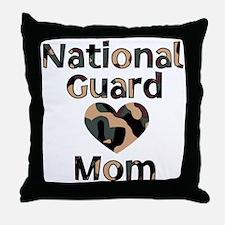National Guard Mom Heart Camo Throw Pillow