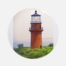 Gay Head Lighthouse Ornament (Round)