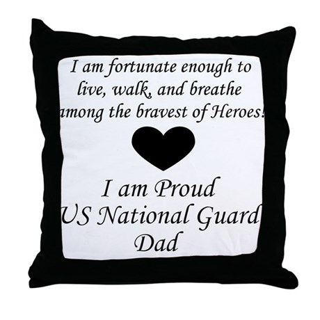 NG Dad Fortunate Throw Pillow