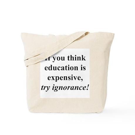 Education quote (black) Tote Bag