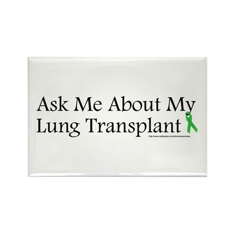 Ask Me Lung Rectangle Magnet