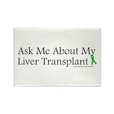Ask Me Liver Rectangle Magnet