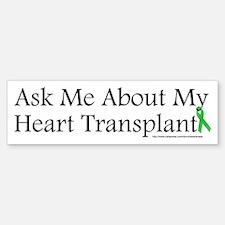 Ask Me Heart Bumper Bumper Bumper Sticker