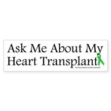 Ask Me Heart Bumper Bumper Sticker