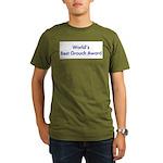 World's Best Grouch Award Organic Men's T-Shirt (d
