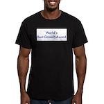 World's Best Grouch Award Men's Fitted T-Shirt (da