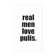 Real Men - Pulis Rectangle Decal