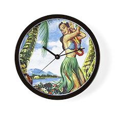 Hawaiian Magic Wall Clock