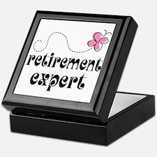 Funny Retirement Expert Keepsake Box