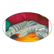Cat Nap Oval Decal