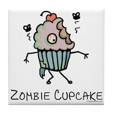 Zombie cupcake Tile Coaster