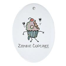 Zombie cupcake Ornament (Oval)