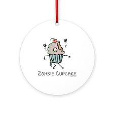 Zombie cupcake Ornament (Round)