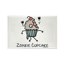 Zombie cupcake Rectangle Magnet