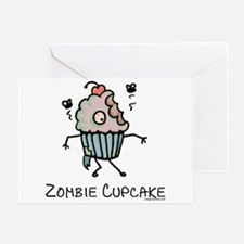 Zombie cupcake Greeting Card