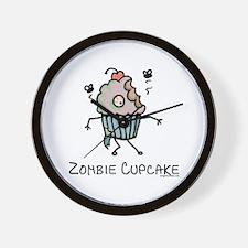 Zombie cupcake Wall Clock