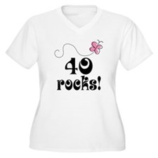 Cute 40 Rocks 40th Birthday T-Shirt
