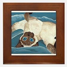 Siamese Kitten Framed Tile