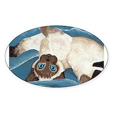Siamese Kitten Oval Decal