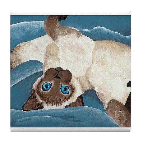 Siamese Kitten Tile Coaster
