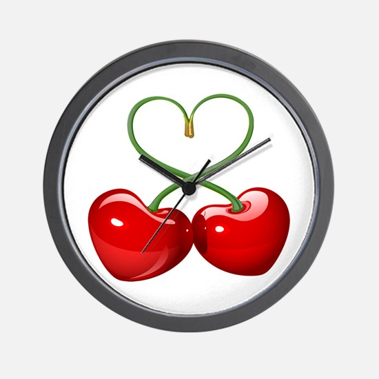 Cherry Love Wall Clock