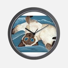 Siamese Kitten Wall Clock